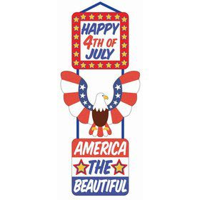 Patriotic 3-Tier Glitter Plaque