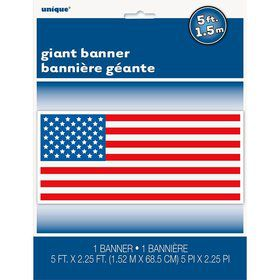 "Patriotic Giant Wall Banner 60""W x 27"" H (Each)"