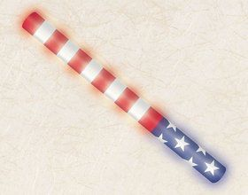 Patriotic Light-Up Foam Stick Favor (Each)