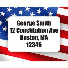 Patriotic Personalized Address Labels (Sheet of 15)