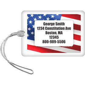 Patriotic Personalized Bag Tag (Each)