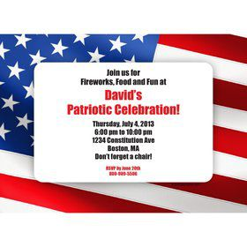Patriotic Personalized Invitation (Each)