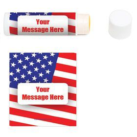 Patriotic Personalized Lip Balm (12 Pack)