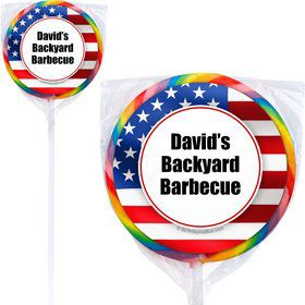 Patriotic Personalized Lollipops (12 Count)