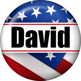 Patriotic Personalized Mini Button (Each)