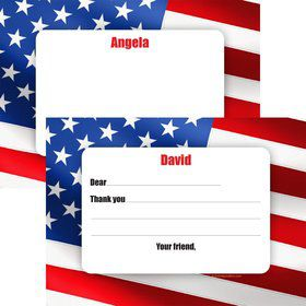 Patriotic Personalized Thank You Note (Each)