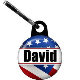 Patriotic Personalized Zipper Pull (Each)