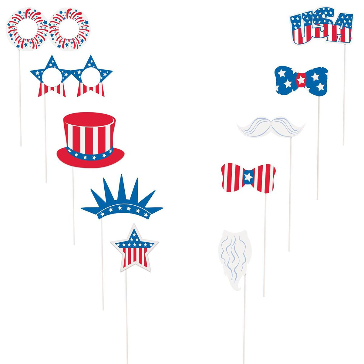Patriotic Photo Booth Props Kit (Each) BB62688