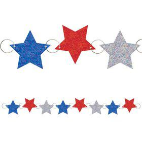 Patriotic Prismatic Foil 9ft. Ring Garland (Each)