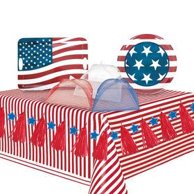 Patriotic Serveware Party Kit