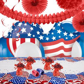 Patriotic USA Flag Deco Kit