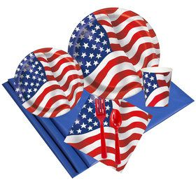 Patriotic USA Flag Party Pack (24)