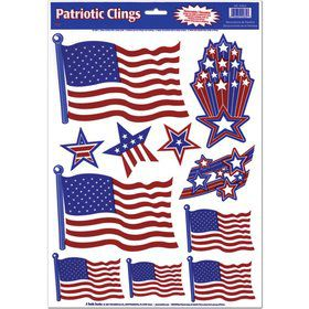 Patriotic Window Clings (Each)