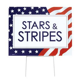 Patriotic Yard Sign