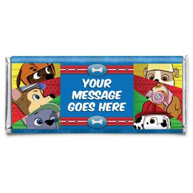 Paw Command Personalized Candy Bar Wrapper (Each)