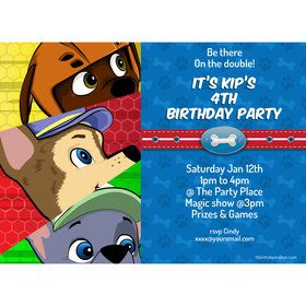Paw Command Personalized Invitation (Each)