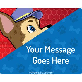 Paw Command Personalized Rectangular Stickers (Sheet of 15)