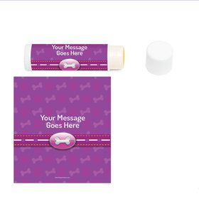 Paw Command Pink Personalized Lip Balm (12 Pack)