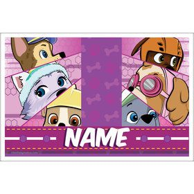 Paw Command Pink Personalized Placemat (Each)