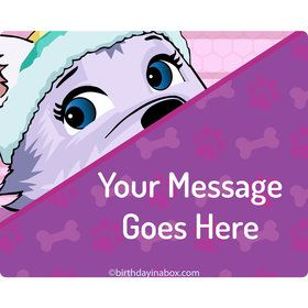 Paw Command Pink Personalized Rectangular Stickers (Sheet of 15)