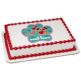 Paw-fect Quarter Sheet Edible Cake Topper (Each)