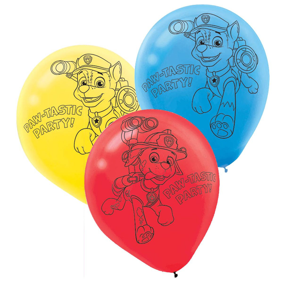 "Paw Patrol 12"" Latex Balloons (6 Pack) BB111462"
