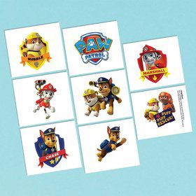 "Paw Patrol 2"" Tattoo Favors (16 Pack)"