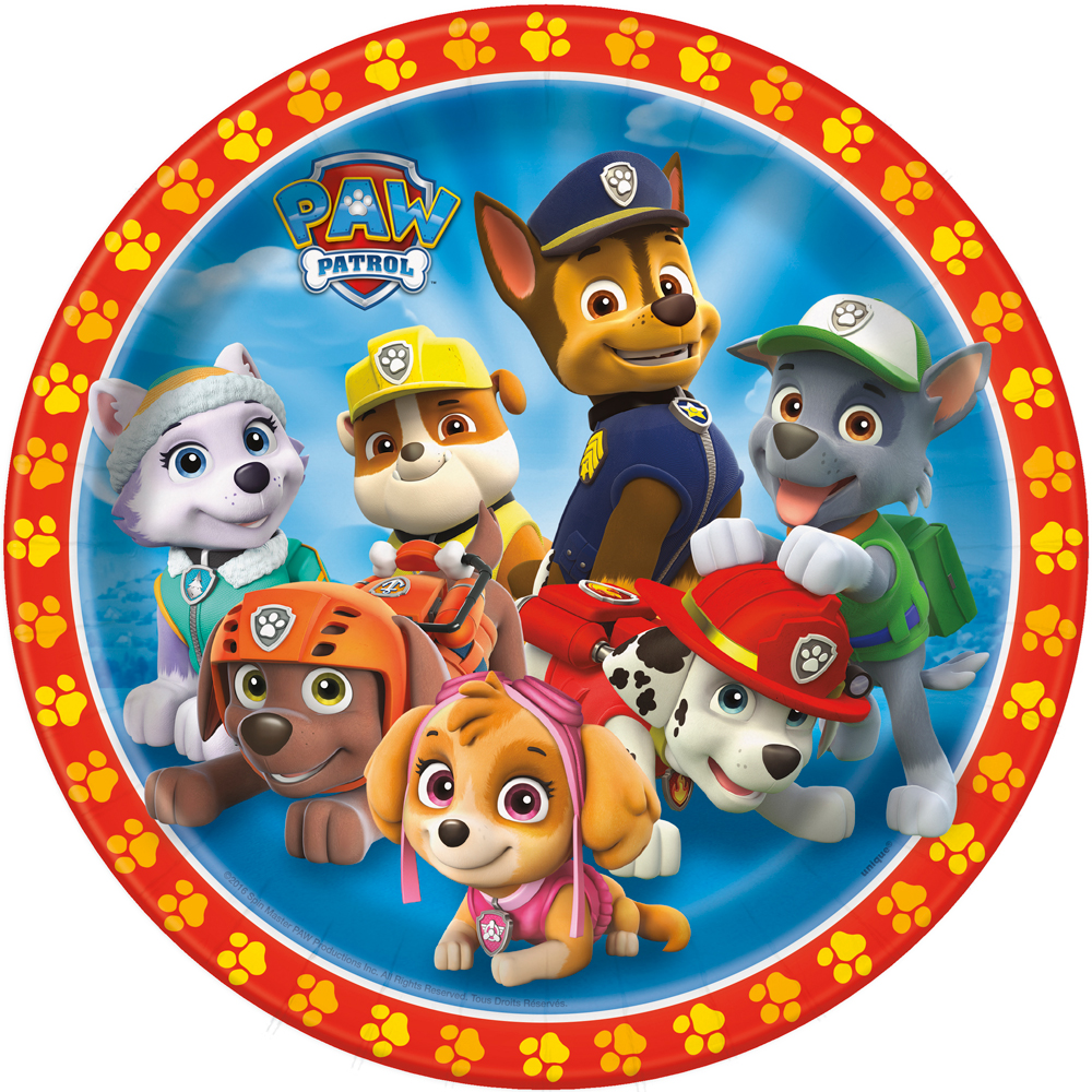"Paw Patrol 9"" Luncheon Plates (8 Pack) - Party Supplies BB48365"
