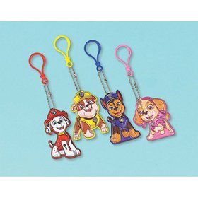 Paw Patrol Adventures Puffy Vinyl Keychain Favors (8)