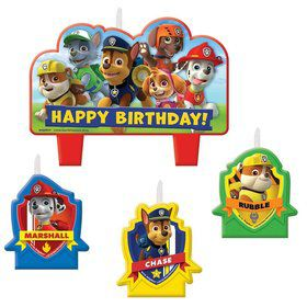Paw Patrol Candle Set (4 Pack)