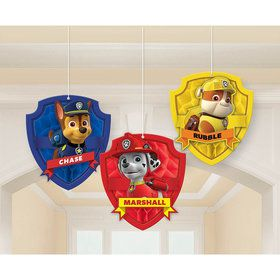 Paw Patrol Honeycomb Decorations (3 Count)