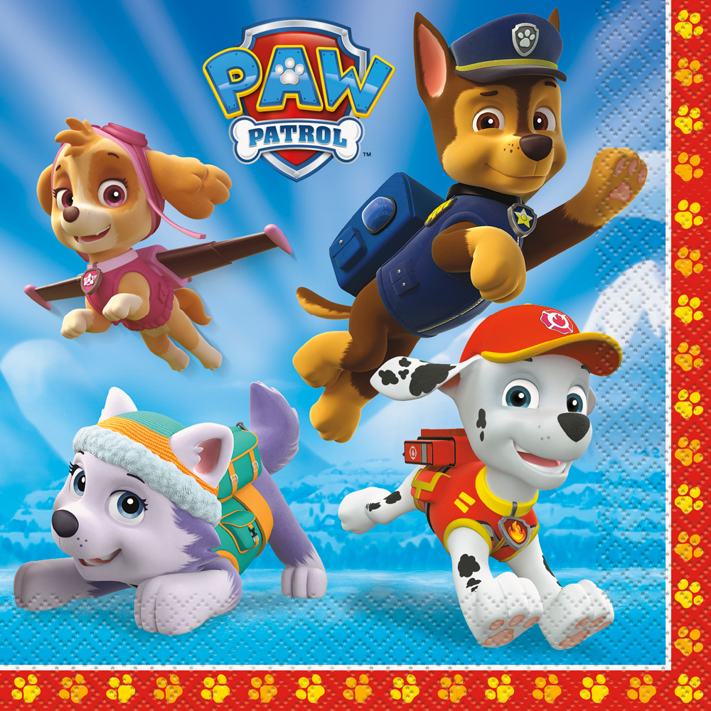 Paw Patrol Luncheon Napkins (16 Pack) - Party Supplies BB48362