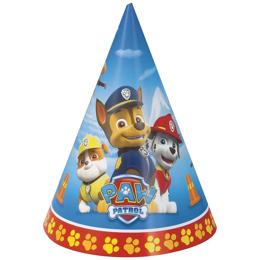 Paw Patrol Party Hats (8 Pack) BB48371