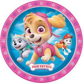 "Paw Patrol Pink 7"" Cake Plate (8 Count)"