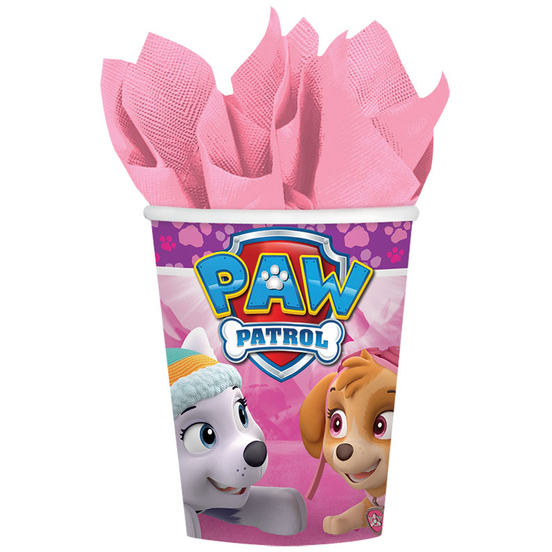 Paw Patrol Pink 9oz Cups (8 Count) BB581665