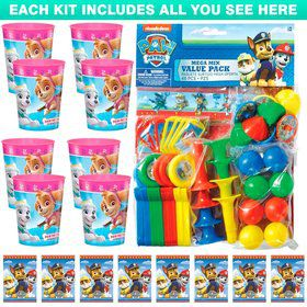 Paw Patrol Pink Favor Kit (For 8 Guests)