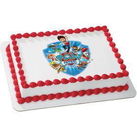 Paw Patrol Quarter Sheet Edible Cake Topper (Each)