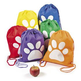 Paw Print Drawstring Backpack (12)