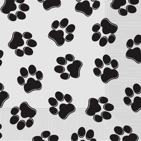 Paw Print Lunch Napkins (16)