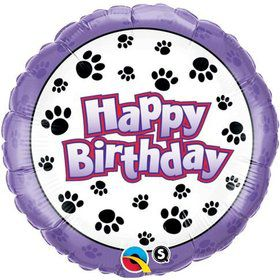 "Paw Prints 18"" Foil Balloon"