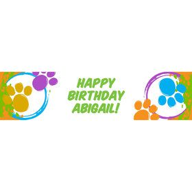 Paw Prints Personalized Banner (Each)