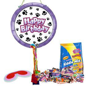 Paw Prints Pull String Pinata Kit