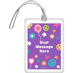 Peace Love Birthday Personalized Bag Tag (Each)
