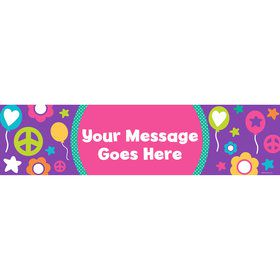 Peace Love Birthday Personalized Banner (Each)