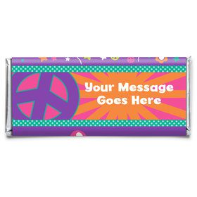 Peace Love Birthday Personalized Candy Bar Wrapper (Each)