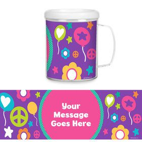 Peace Love Birthday Personalized Favor Mug (Each)