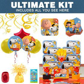 Peanuts Birthday Party Ultimate Tableware Kit Serves 8