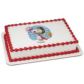 Peanuts Snoopy Flying Ace Quarter Sheet Edible Cake Topper (Each)