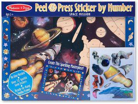 Peel & Press Sticker By Number - Space Mission