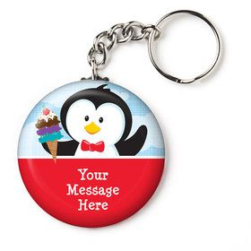 "Penguin Personalized 2.25"" Key Chain (Each)"
